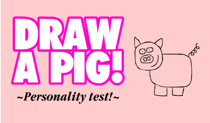 Scribble Drawing Quiz : Draw a pig personality test none st albert s place on