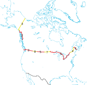 U S And Canada S Bizarre Border Is Not A Straight Line